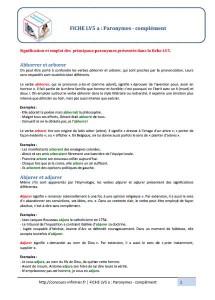 paronymes complément concours IFSI